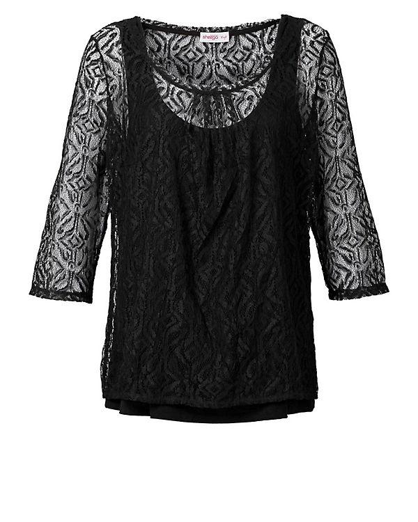 sheego 3/4-Arm-Shirt schwarz