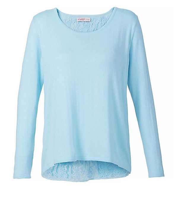 sheego Pullover blau