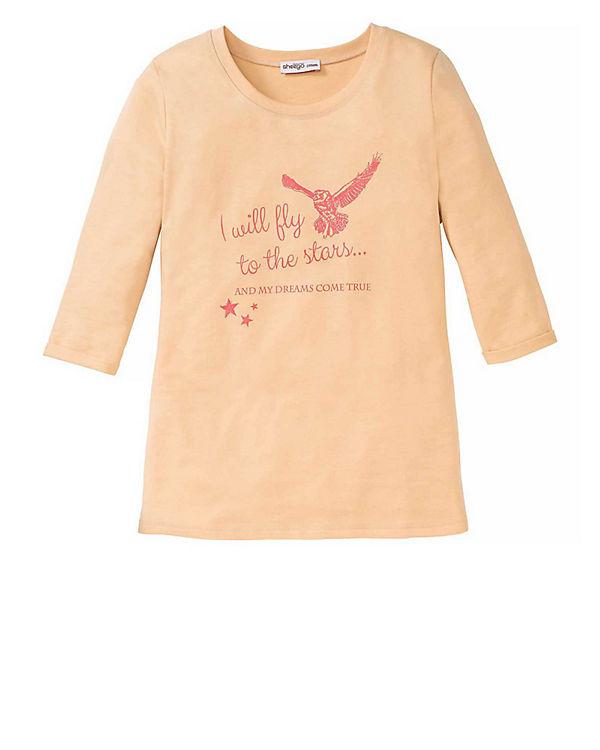 sheego 3/4-Arm-Shirt apricot