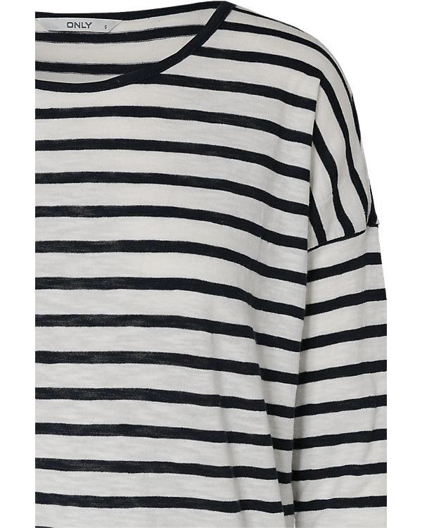 ONLY 3/4-Arm-Shirt blau/weiß