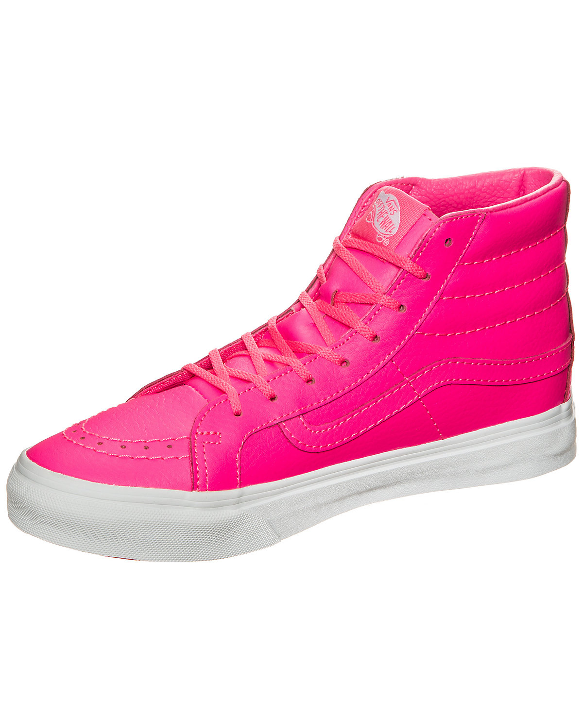 VANS, Vans Sk8-Hi Slim Neon Leather Sneakers, rosa
