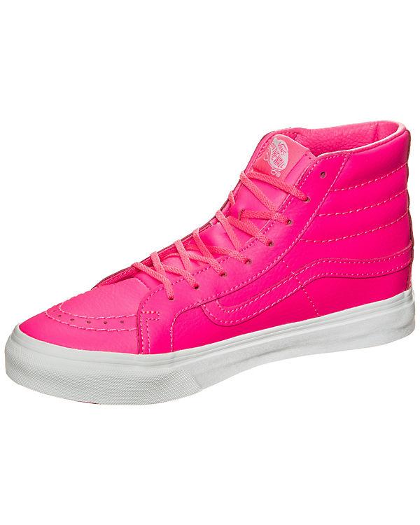 Vans Sk8-Hi Slim Neon Leather Sneakers rosa