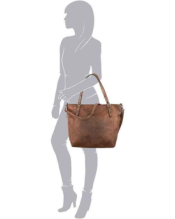 Emily & Noah Emily & Noah Evelyn Shopper cognac