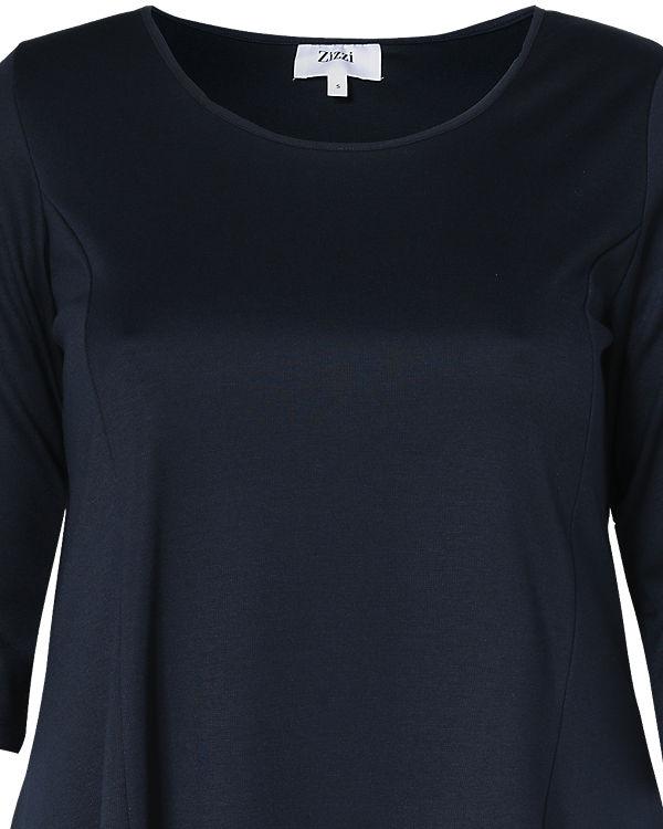 Zizzi Jerseykleid dunkelblau