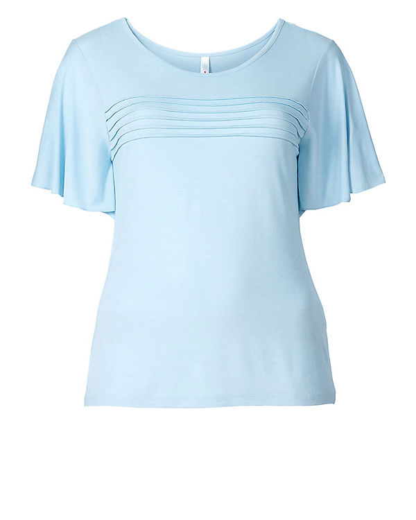 sheego T-Shirt blau