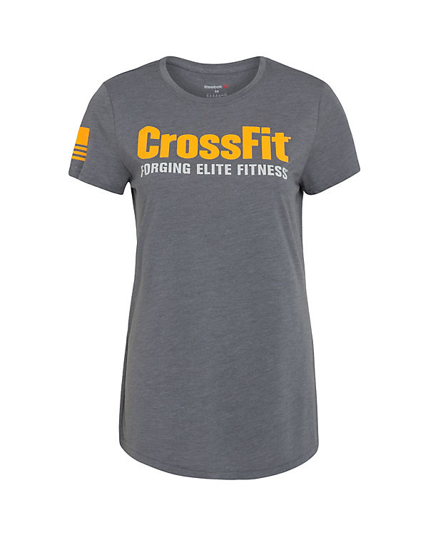 Reebok Trainingsshirt CrossFit Forging Elite Fitness grau/orange