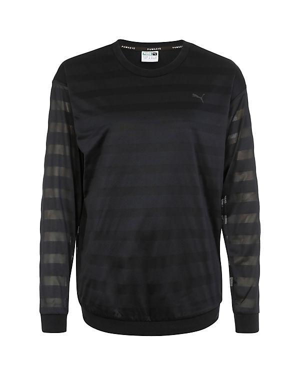 PUMA Sweatshirt Burn Out Crew schwarz
