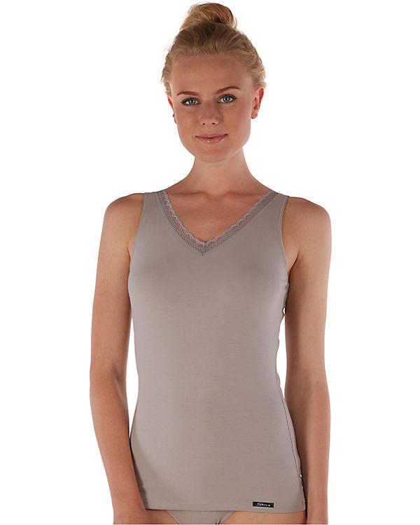 Skiny Unterhemd Advantage Lace grau