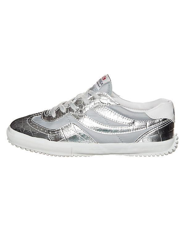 Superga 2832 Metcrow Sneaker silber