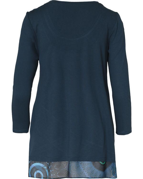 Desigual Langarmshirt blau