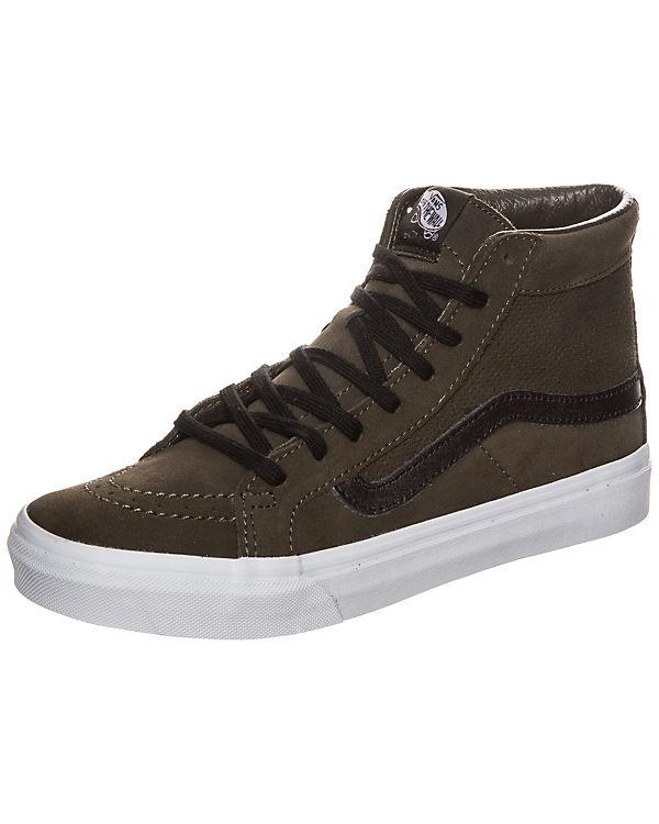 Vans Sk8-Hi Slim Cutout Sneaker Damen dunkelgrün