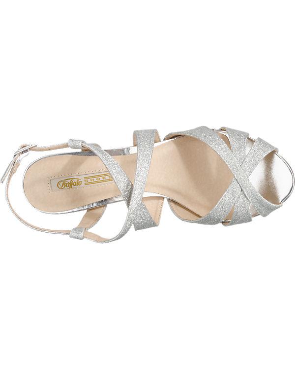 BUFFALO Sandaletten silber