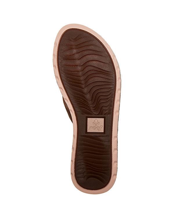 Reef Voyage Leather Pantoletten hellbraun