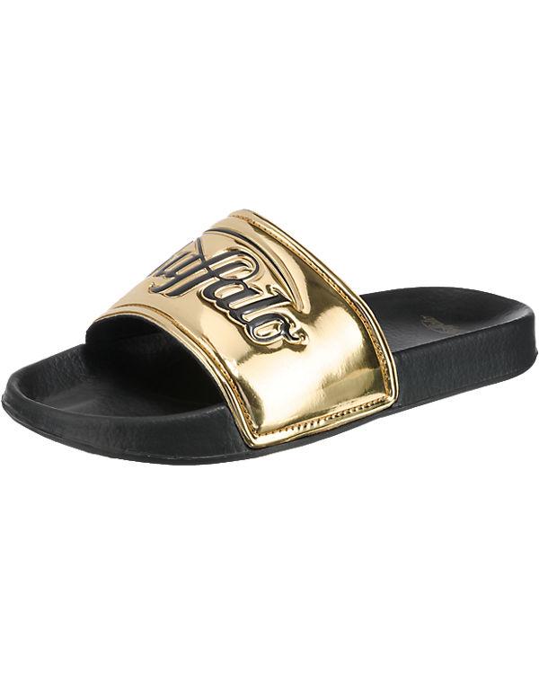 BUFFALO Pantoletten gold