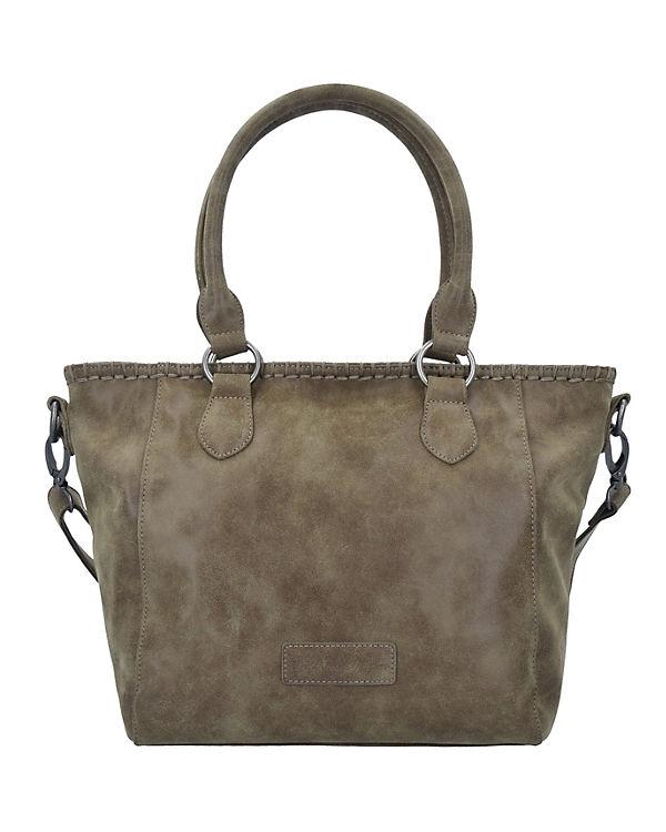 Fritzi aus Preußen Inke Vintage Shopper Tasche 42 cm braun