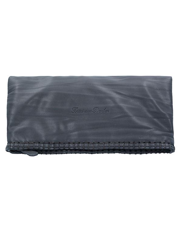 Fritzi aus Preußen Ronja Stit Nappa Clutch Tasche 29 cm dunkelgrau