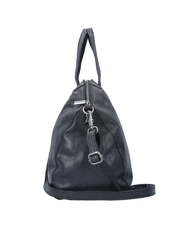 Sansibar Saturnus Zip Handtasche 35 cm schwarz