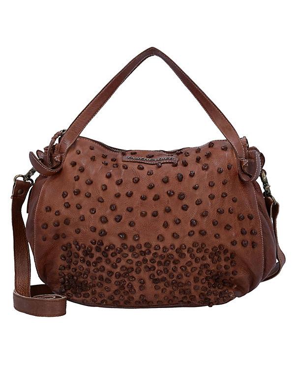 Taschendieb Handtasche Leder 28 cm braun