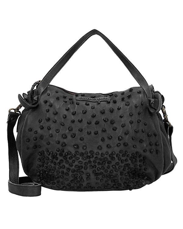 Taschendieb Handtasche Leder 28 cm dunkelgrau