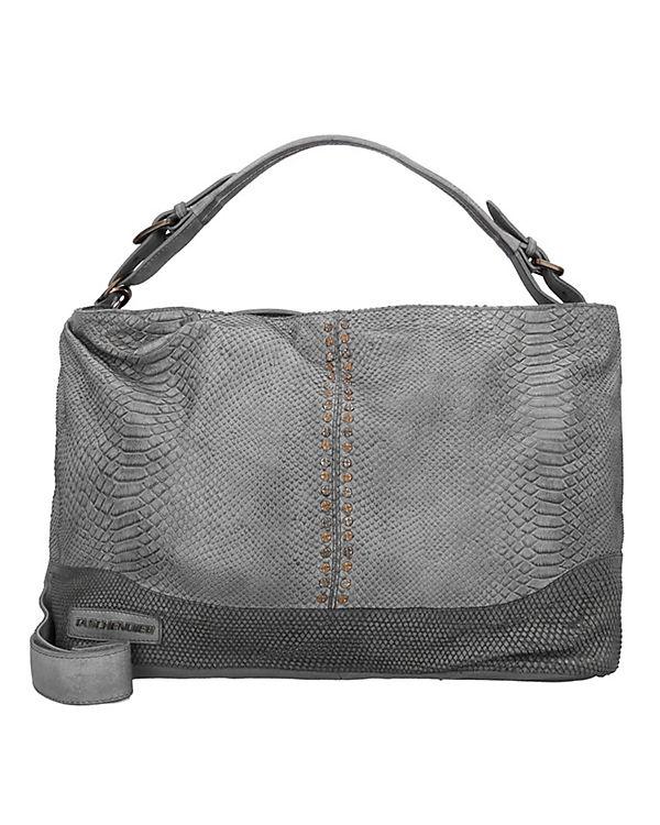 Taschendieb Schultertasche Leder 45 cm grau