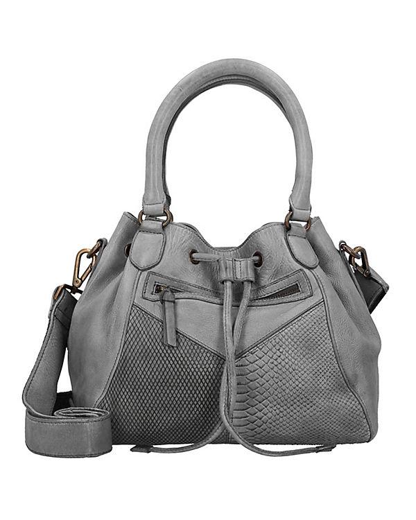 Taschendieb Beuteltasche Leder 30 cm grau