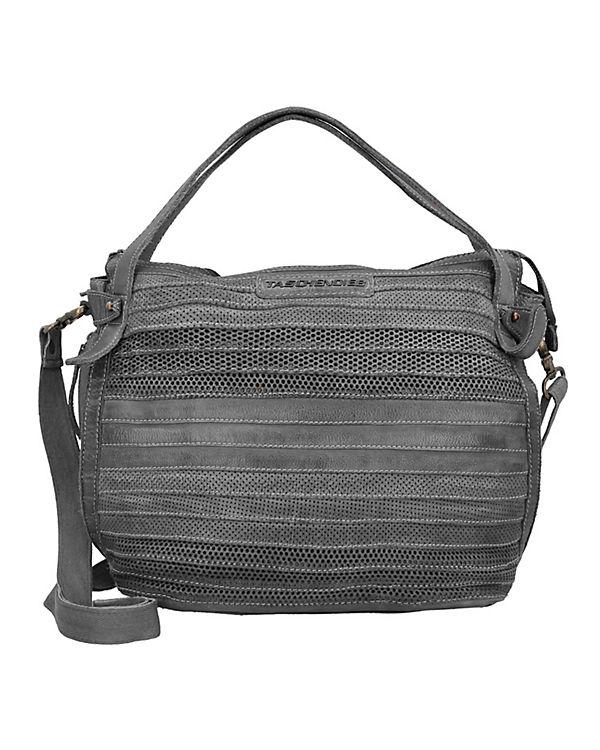Taschendieb Handtasche Leder 35 cm grau