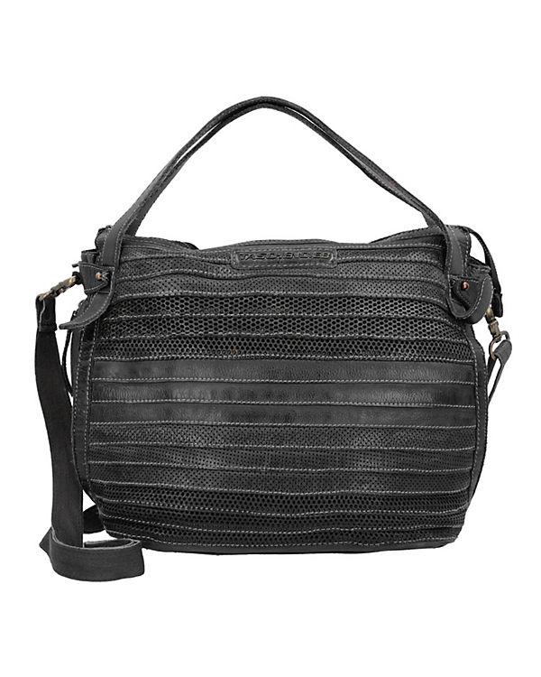 Taschendieb Handtasche Leder 35 cm dunkelgrau