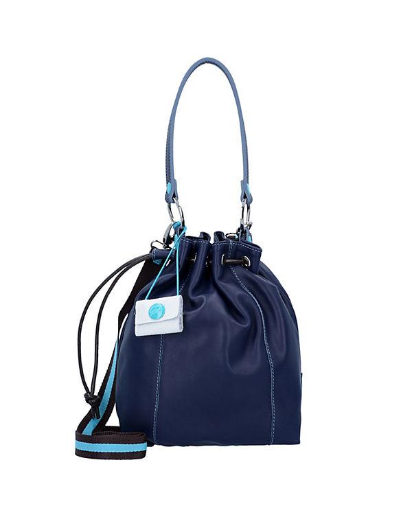 Gabs Jess S Beuteltasche Leder 32 cm blau