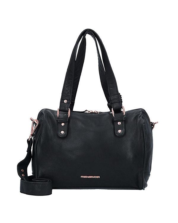 FREDsBRUDER Identity Handtasche Leder 29 cm schwarz