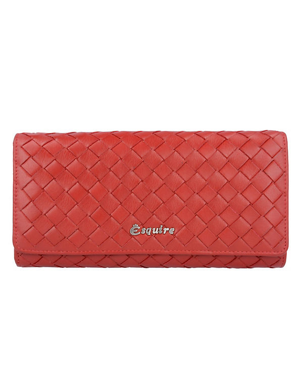 Esquire Esquire Firenze Geldbörse Leder 18,8 cm rot