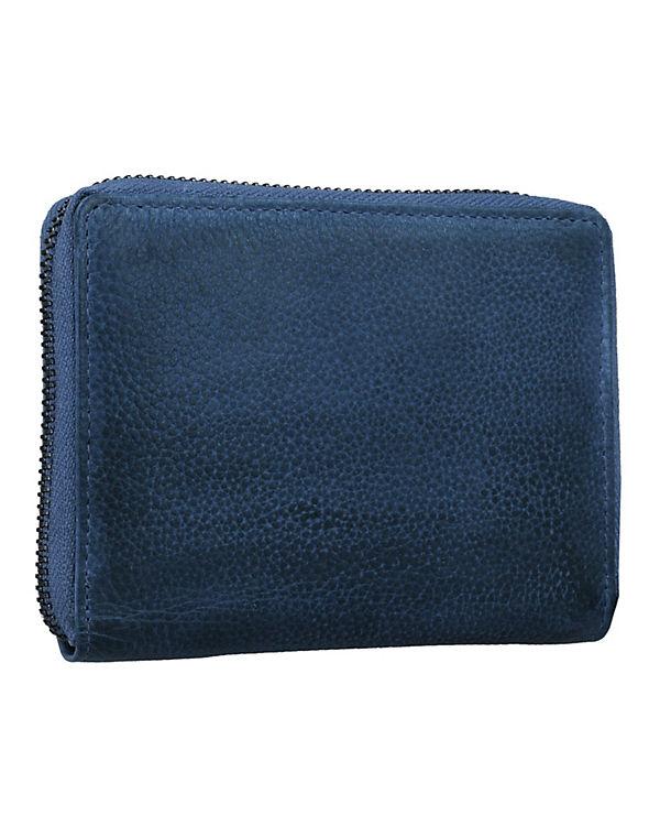 Greenburry Greenburry Dirty Geldbörse Leder 13cm blau