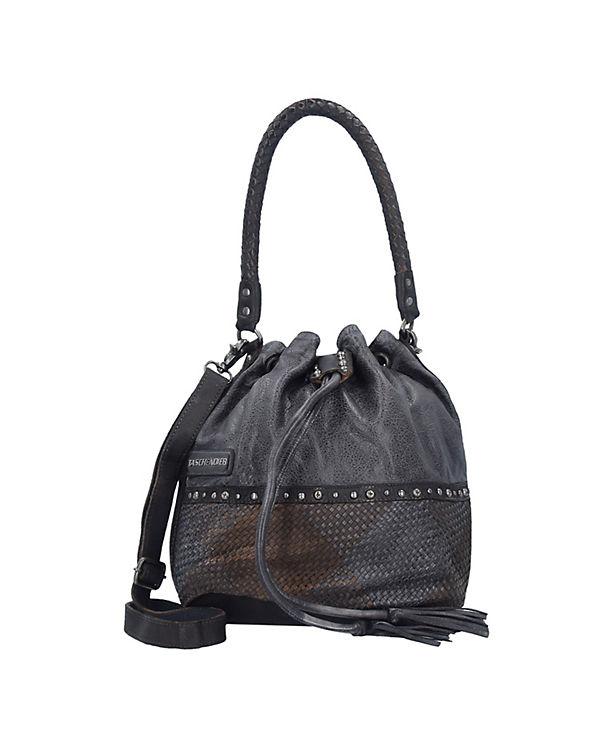 Taschendieb Taschendieb Wien Beuteltasche Leder 27 cm dunkelgrau