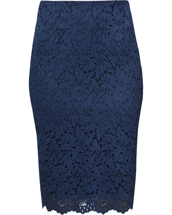 ESPRIT collection Spitzenrock dunkelblau