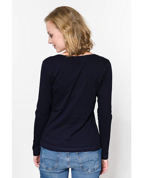 blue Langarmshirt dunkelblau
