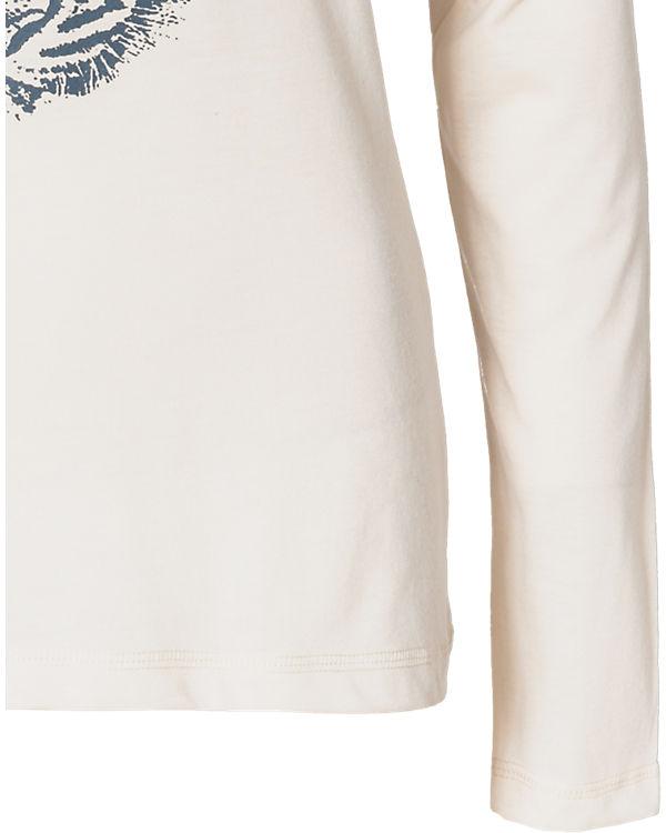 blue Langarmshirt offwhite