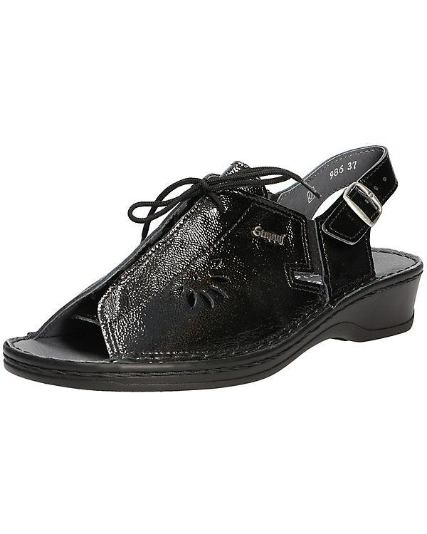 Stuppy Comfort Sandale schwarz