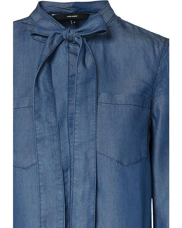 VERO MODA Bluse blue denim