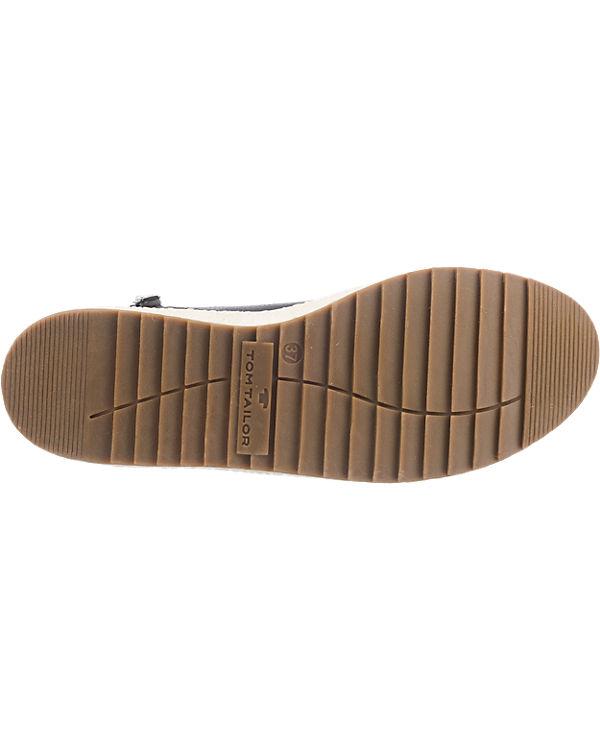 TOM TAILOR Sneakers schwarz