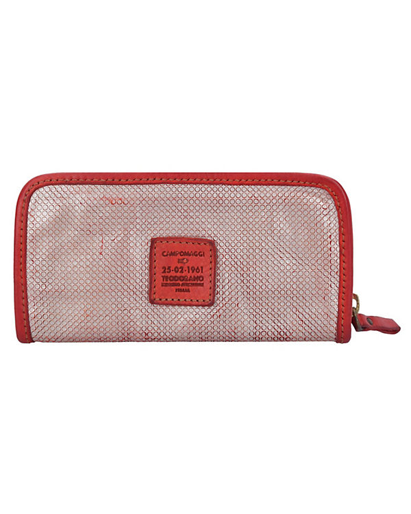 Campomaggi Campomaggi Fiore di Loto Geldbörse Leder 21 cm rot
