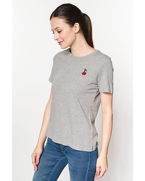 VERO MODA T-Shirt, Organic Cotton hellgrau