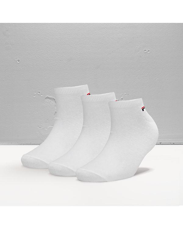 FILA 3 Paar Sneaker Socken weiß