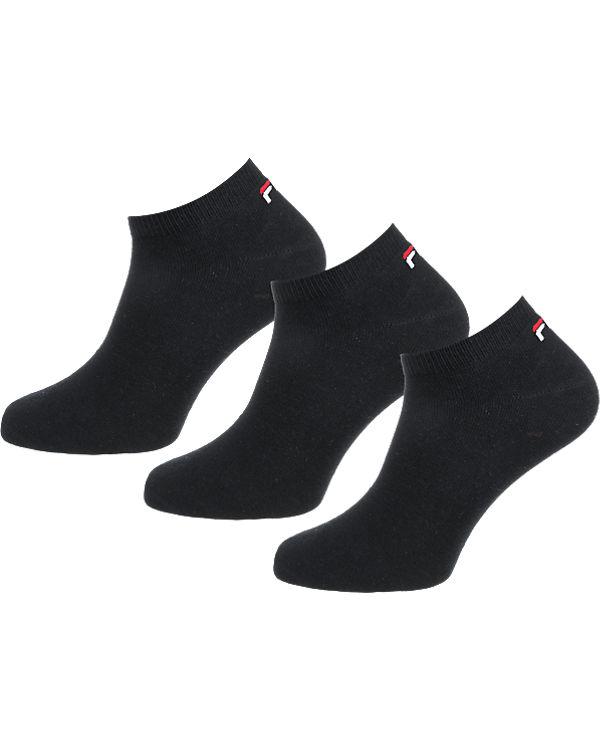 FILA 3 Paar Sneaker Socken schwarz
