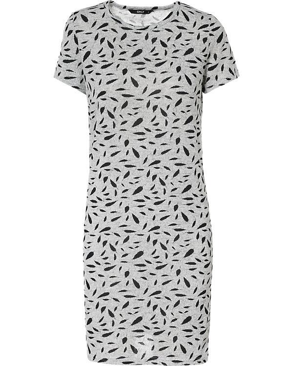ONLY Kleid schwarz/grau