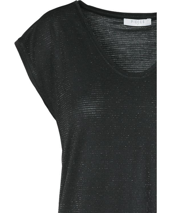 pieces T-Shirt schwarz-kombi