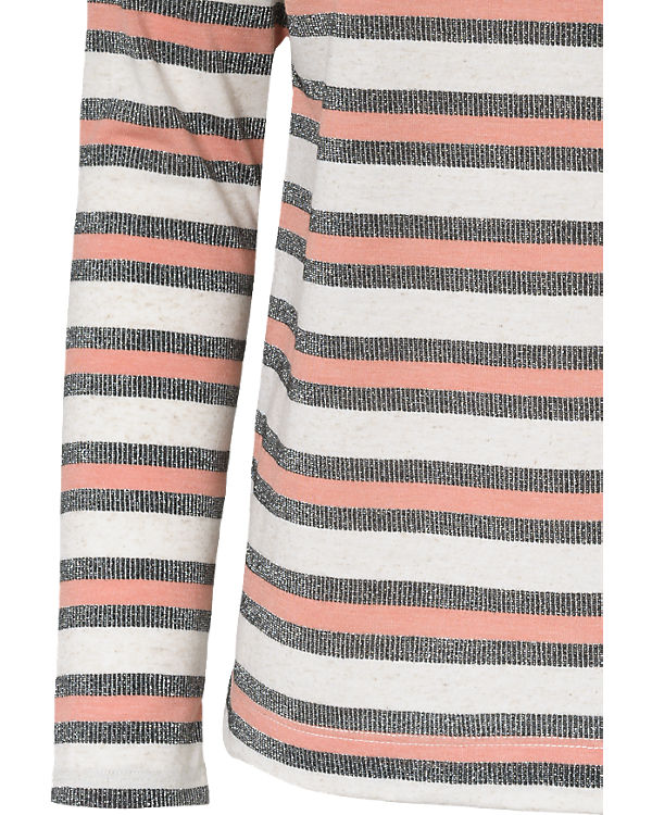Pepe Jeans Langarmshirt Madera rosa/weiß
