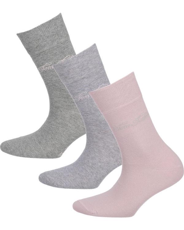 TOM TAILOR 3 Paar Socken lila