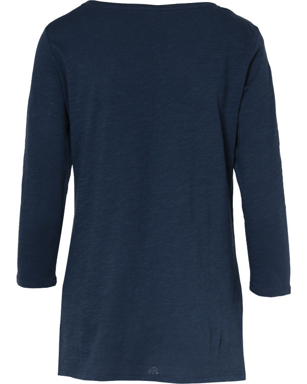 edc by ESPRIT 3/4-Arm-Shirt dunkelblau