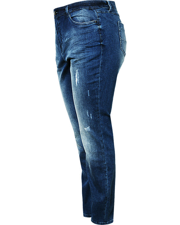 TRIANGLE Jeans Curvy Straight blue denim