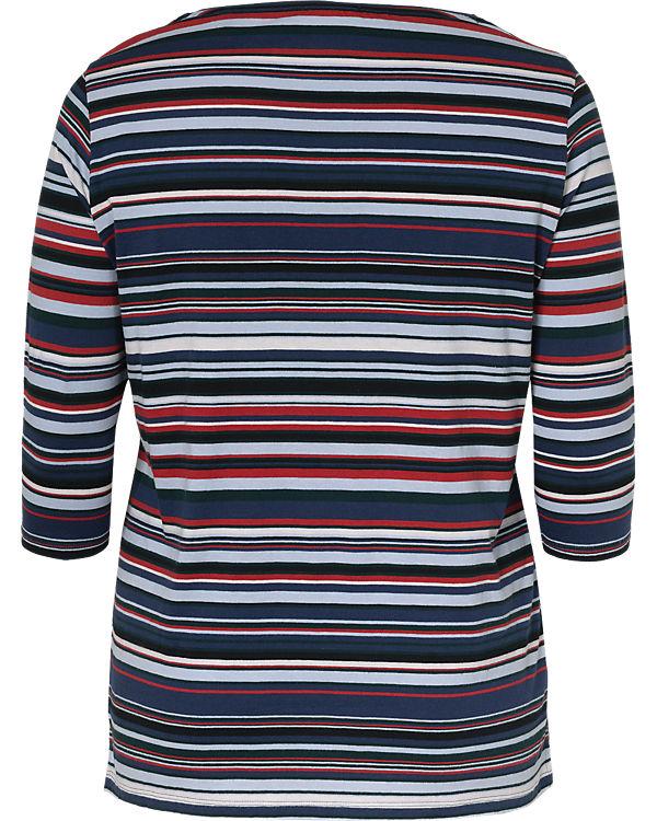 TRIANGLE 3/4-Arm-Shirt blau