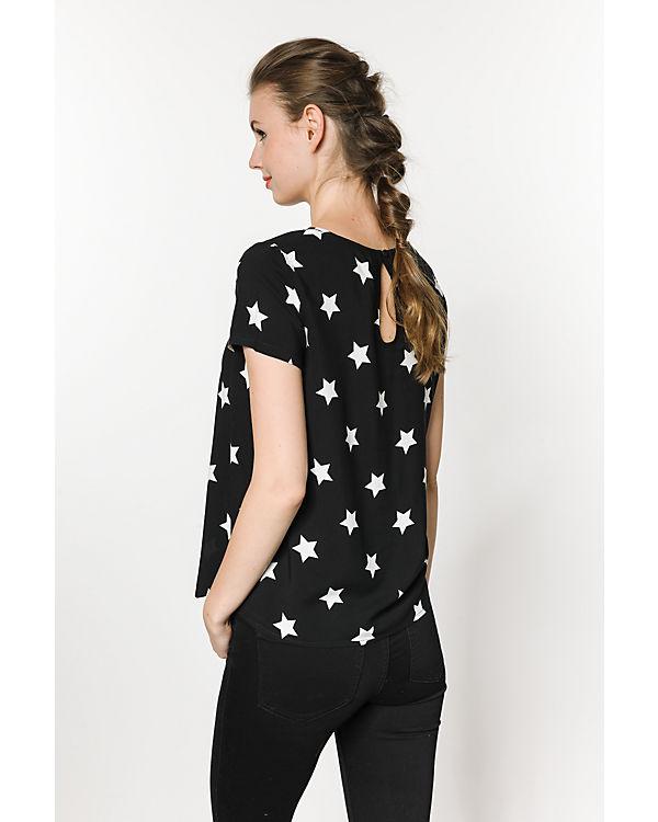 ONLY Blusenshirt schwarz/weiß